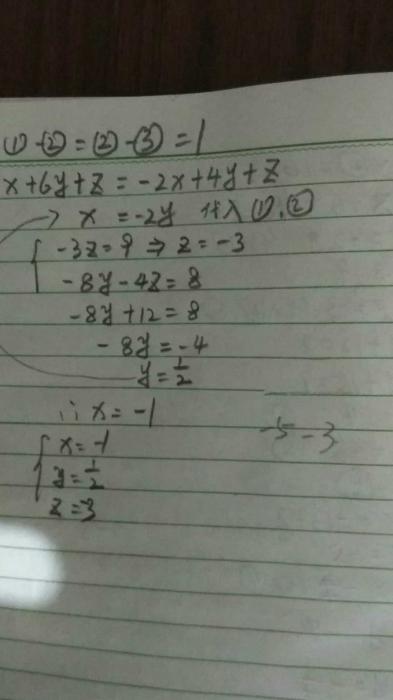 方程组的解法,解题的关键