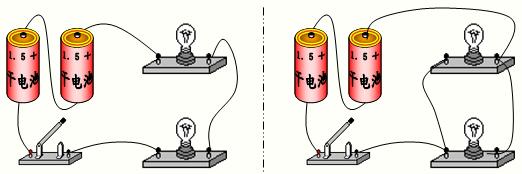 如何用一个开关控制两个灯泡同时发光