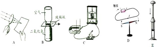②说明发电机工作原理的是  显示解析试题篮 a &nbsp
