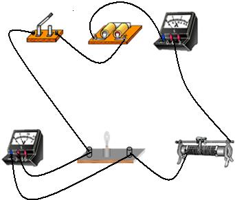 灯泡串联接线实物图