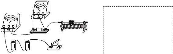 (1)如图所示,用笔画线代替导线,将实验电路连接完整(要求:滑片向左移时,滑动变阻器接入电路的阻值变小). (2)在虚线框中画出实验电路图. (3)当探究电流与电压的关系时,通过调节滑动变阻器的滑片P的位置来改变