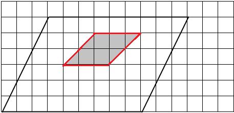 画出如图中的平行四边形按1 3缩小后的图形,并涂上阴影 小学数学