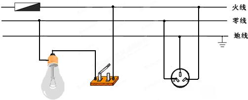 三孔灯泡接线图解