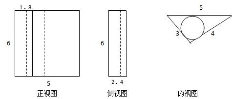 如图所示,直三棱柱abc-a1b1c1的侧棱aa1=6,底面三角形
