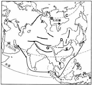阿拉伯半岛气候干燥的原因是(  ) ①地面沙漠广布②海洋水汽