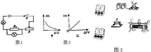 如图1是探究电流与电压,电阻关系的实验电路图.