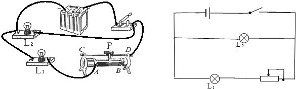 1的亮度说明滑动变阻器与灯泡l