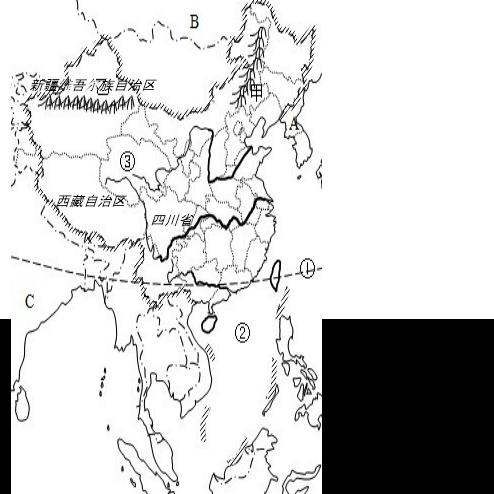 初中地理试题 > 试题解析   (2)朝鲜;俄罗斯;印度;(3)太平洋;南海; (4