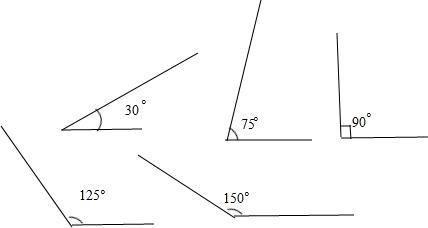 分析:画角的步骤是:①画出一条射线