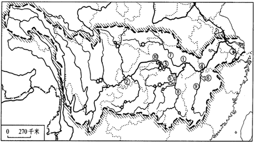 中国山脉走向手绘图