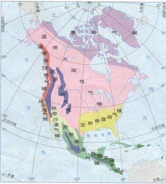 温带大陆性气候和亚寒带针叶林气候
