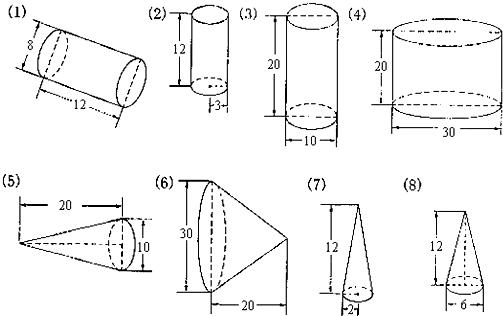 一个圆柱形木块切成四块(如图1)
