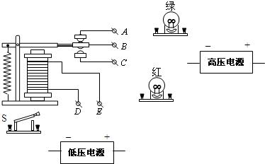 将如图所示中的电磁铁连入你设计的电路中