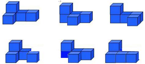 由5个正方体搭成的立体图形,从正面种左面看到的图形如下.