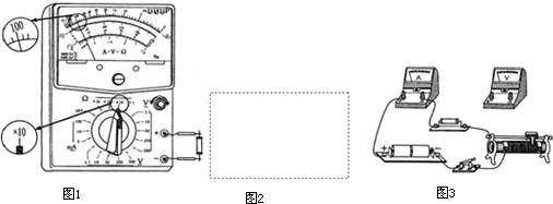 (1)某同学用多用电表进行测量一只未知阻值的电阻