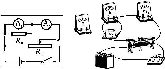 1的电压测量误差较大,选择电流表a