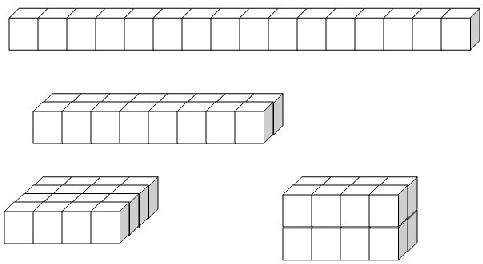 用16个棱长1厘米的小正方体摆成不同形状的长方体,体积和表面积有什么