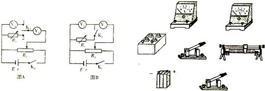 ③按图b的电路图用实线连接好实物电路图