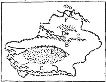 塔里木盆地绿洲分布图