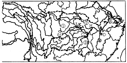 读中国地形图,回答下列问题