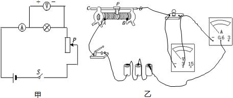 滑动变阻器接入电路的阻值变大,滑动变阻器分压变大,灯泡两端电压变小