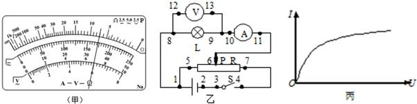 """某同学在探究规格为""""2.5v,0.6w""""的小电珠伏安特性曲线实验中"""