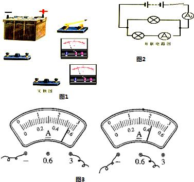 探究并联电路电流特点实验(1)根据电路图2完成实物图
