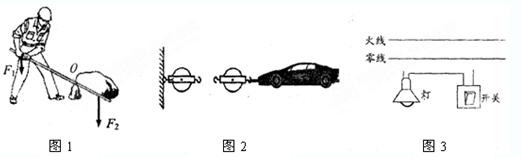 【考点】力臂的画法;滑轮组的设计与组装;家庭电路的连接.