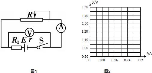 测电池的电动势和内电阻,其原理如图1所示,电路中串联了一只2Ω的保