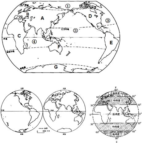 """读各类""""七大洲,四大洋""""等地图"""