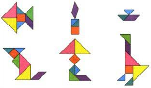 解:用七巧板拼图如下图片