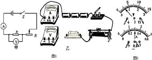 (1)按电路图甲将乙图中未连接的导线补画上.