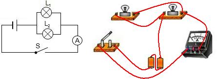 并联电路实物连接_初中物理根据实物图连接电路图练习题-
