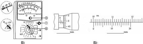 k为多用电表面板上的可调部件