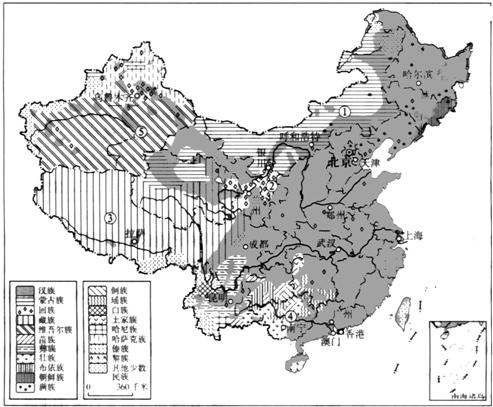 中国人口分布_民族人口分布