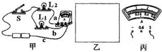 九年级 上学期  根据实物图的连接,画出电路图,并读出图丙中电流表的
