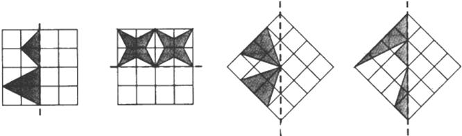 画出下列图形的轴对称图形.