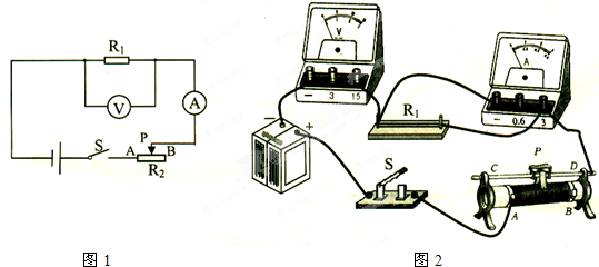 在研究电流与电阻和电压关系的实验中