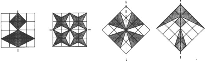 画出下列图形的轴对称图形