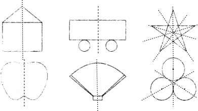 你能画出下面图形的对称轴吗?