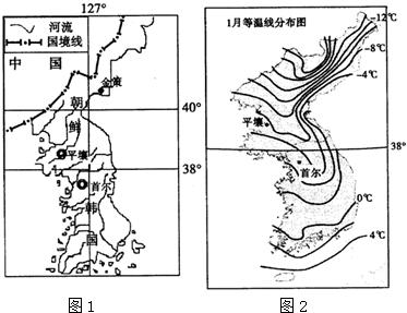 朝鲜半岛位置示意