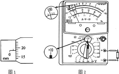 """(1)某同学在""""测定金属的电阻率""""实验时,测得金属丝的直径如图1所示.d"""