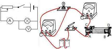 泡、电流表以及滑动变阻器串连接电压表并联在灯泡端根据电路图接