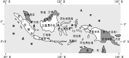 (2)爪哇岛附近海域是世界上发生 地震 地震, 火山 火山灾害