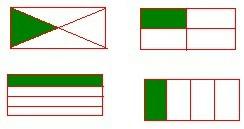将一个 长方形平均分成4份 ,每份占frac 1 4 小 将一个 长方形平均 分