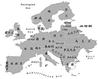 观察欧洲政区图