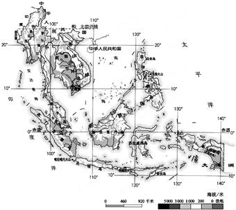 东南亚中南半岛上山脉,河流多由北向南延伸,形成了山河相间,纵列分布