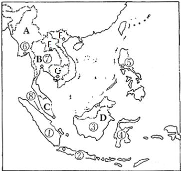 读东南亚地图图