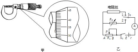 某同学通过实验测量一根长度为l的电阻丝的电阻率.
