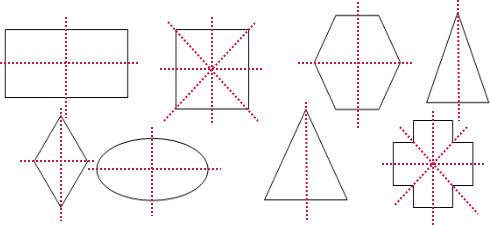画出下列图形的所有对称轴